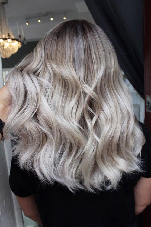 Foilayage kall blond