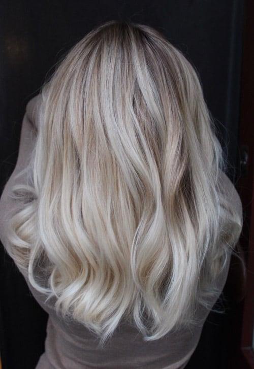 Foilayage askig blond