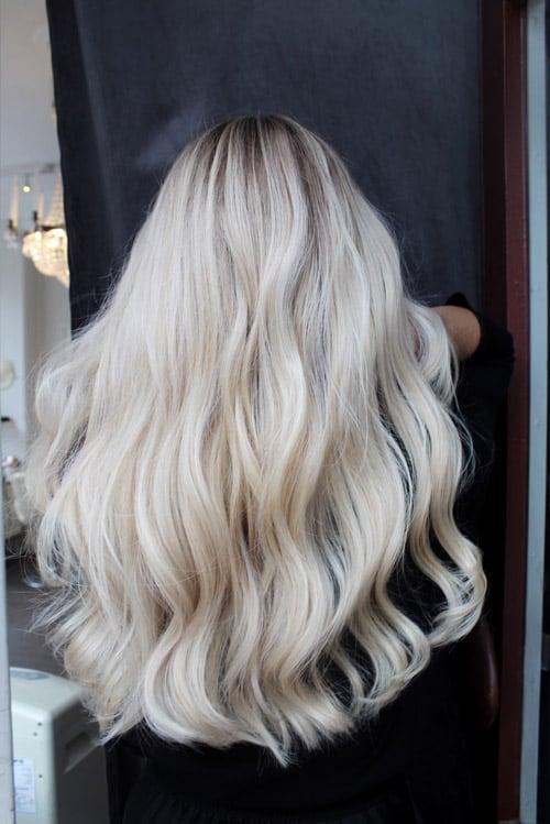 Foilayage ljus blond