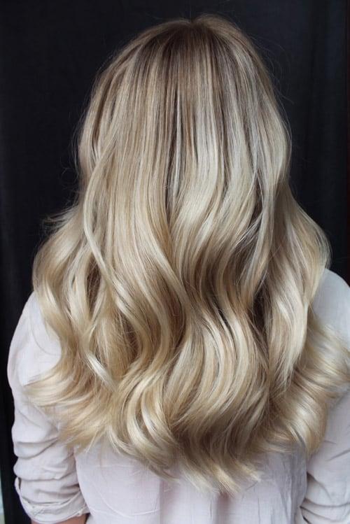 Foilayage varm blond