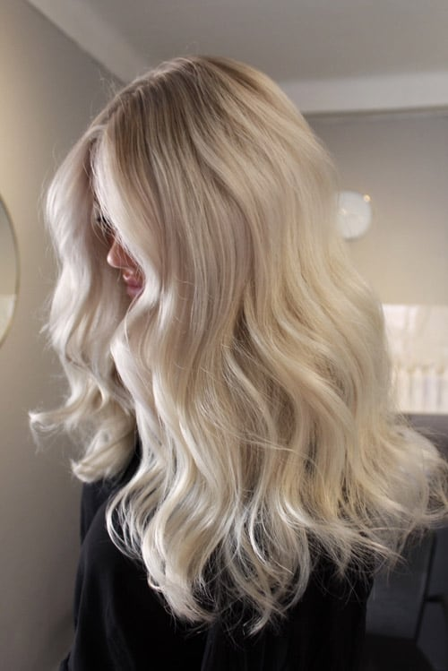 Foilayage light blonde