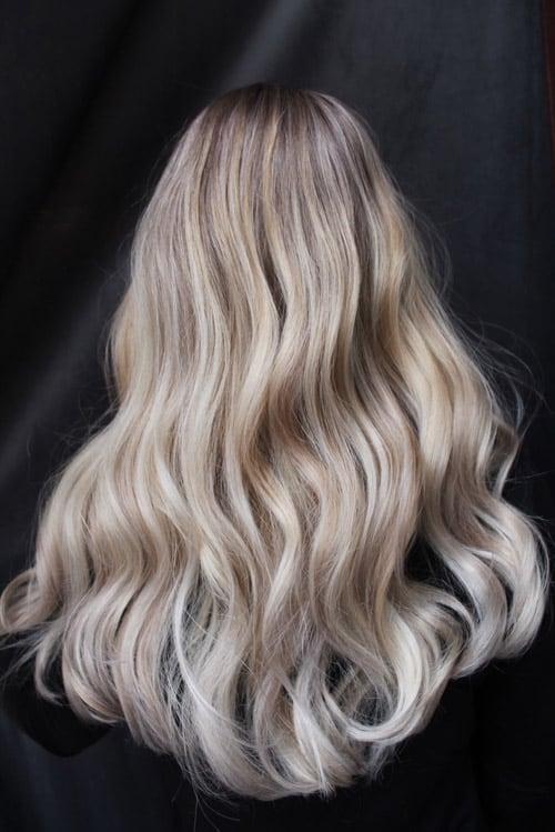 Foilayage askig blondin
