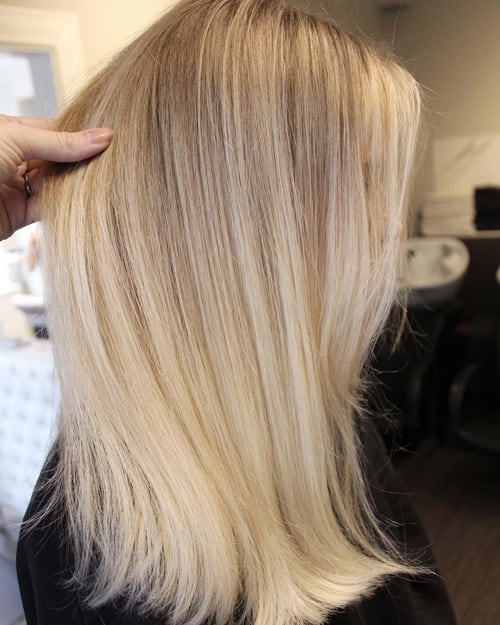 Foilayage vanilla blonde