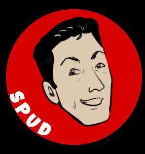 Caricature of Spud Melin