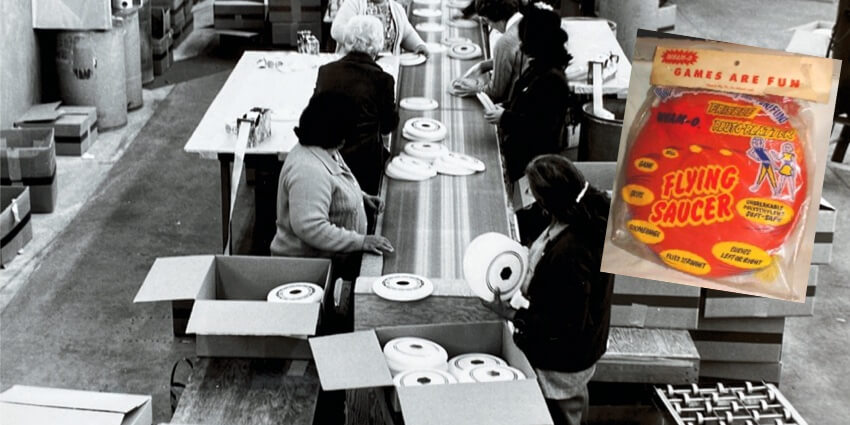 Frisbee manufacturing