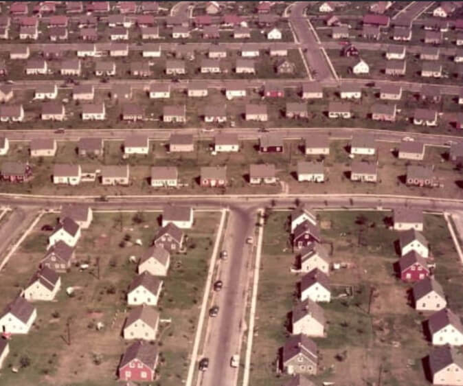 Growing post-war suburbs