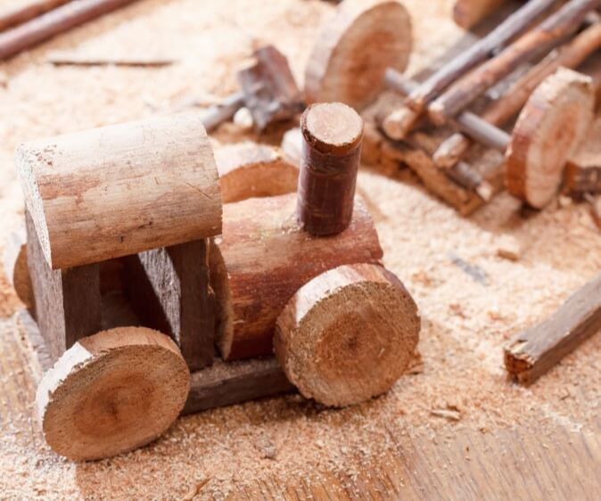 Hand-made wooden toys