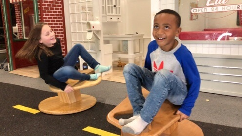 Children spinning on Whirly-Go-Round 1