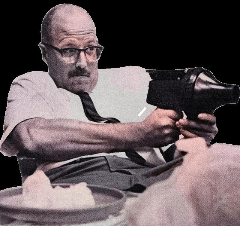 Rich Knerr takes aim with an Air Blaster