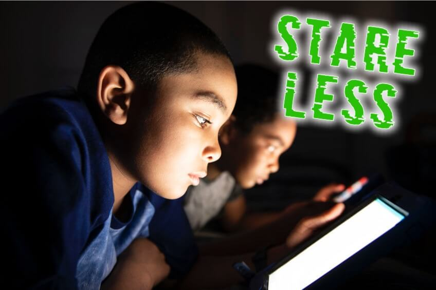 Stare Less: Children staring at screens