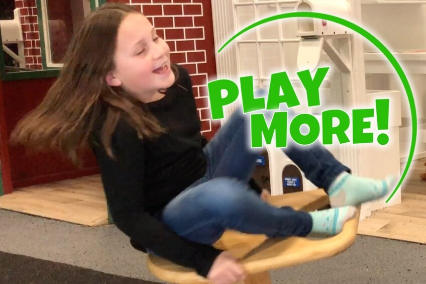 Play More: girl on Whirly-Go-Round