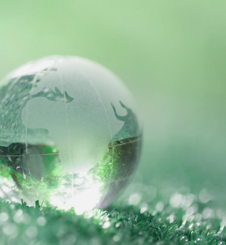 planet on grassy ground