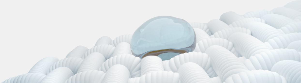 gouttes d'eau repoussées sur le tissu
