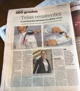 Induo on 360 grados newspaper publication