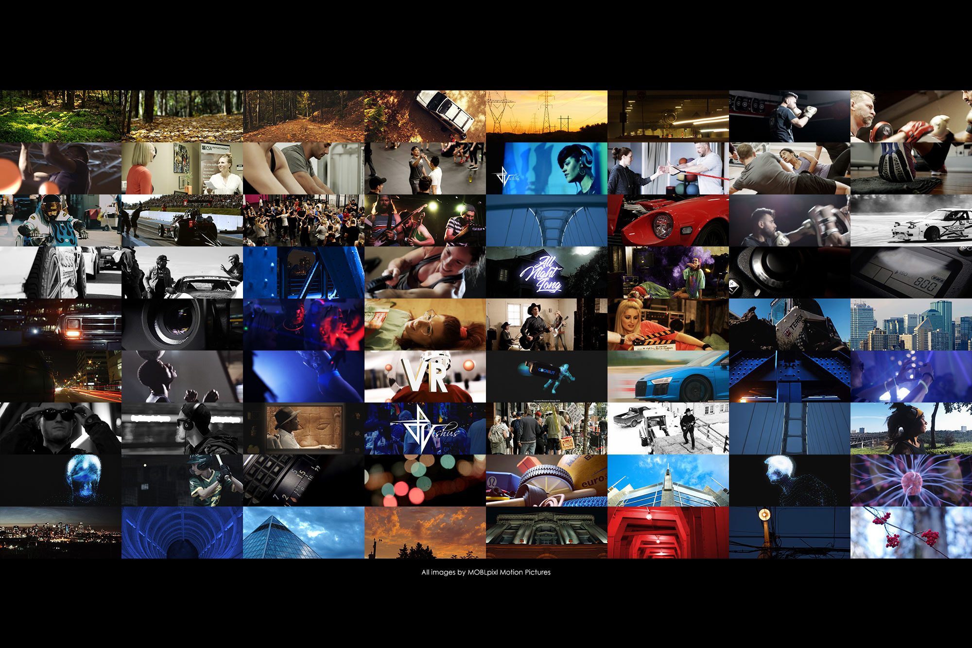 A small sample of images from from various video projects completed by MOBLpixl Motion Pictures.