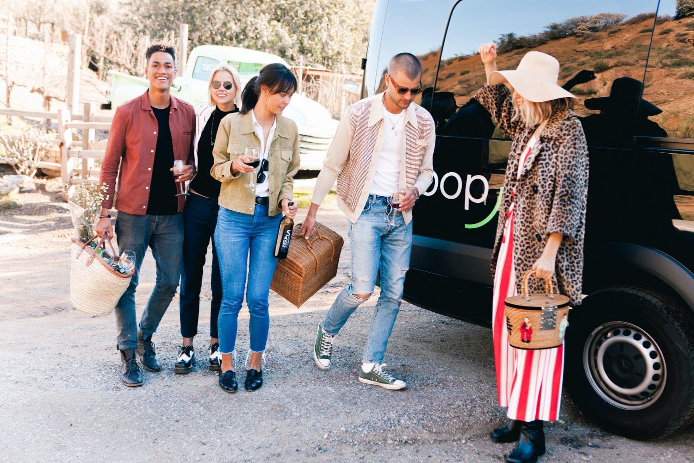 Group of people in front of Swoop Van