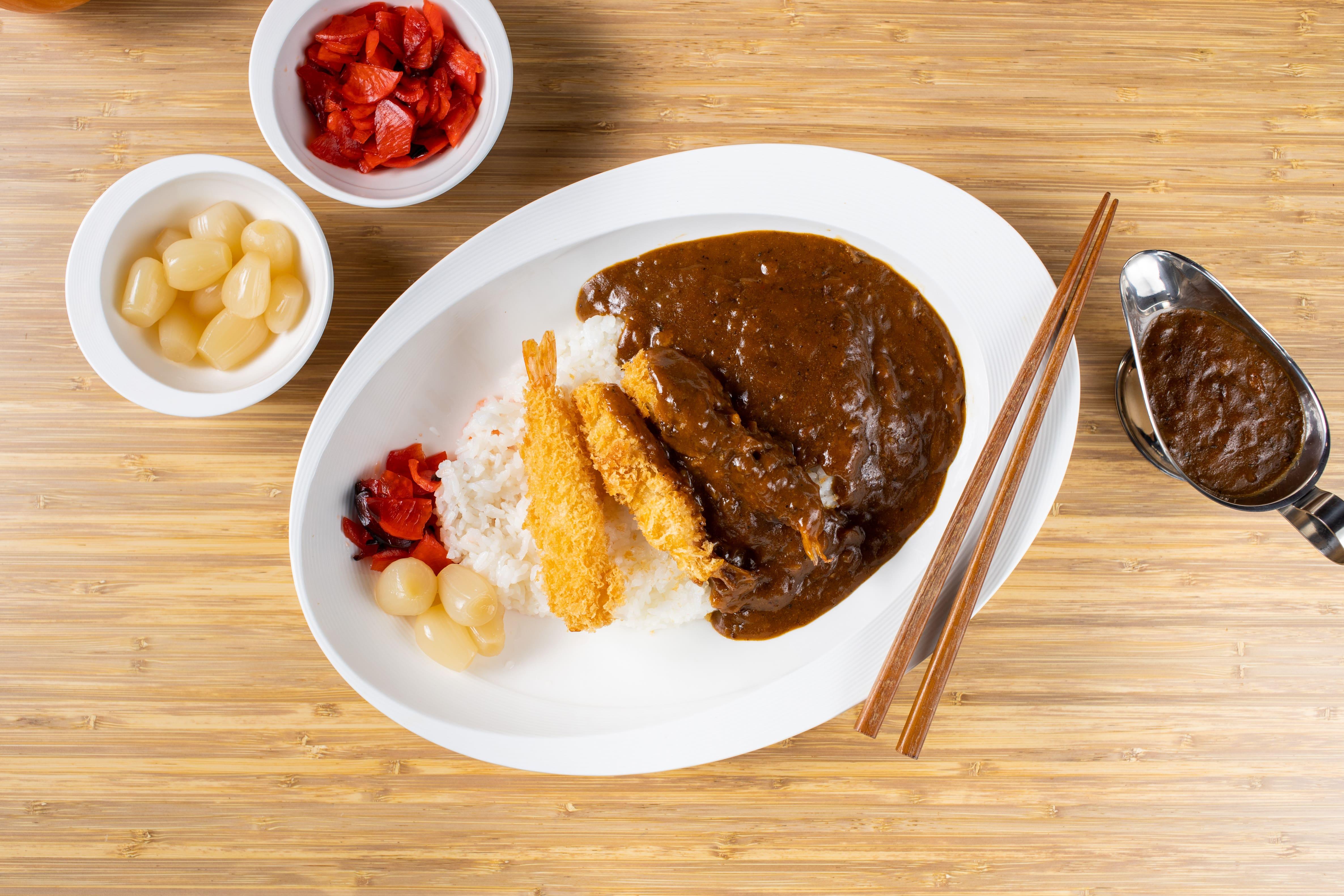 Ebi Fry (Prawns)  Curry