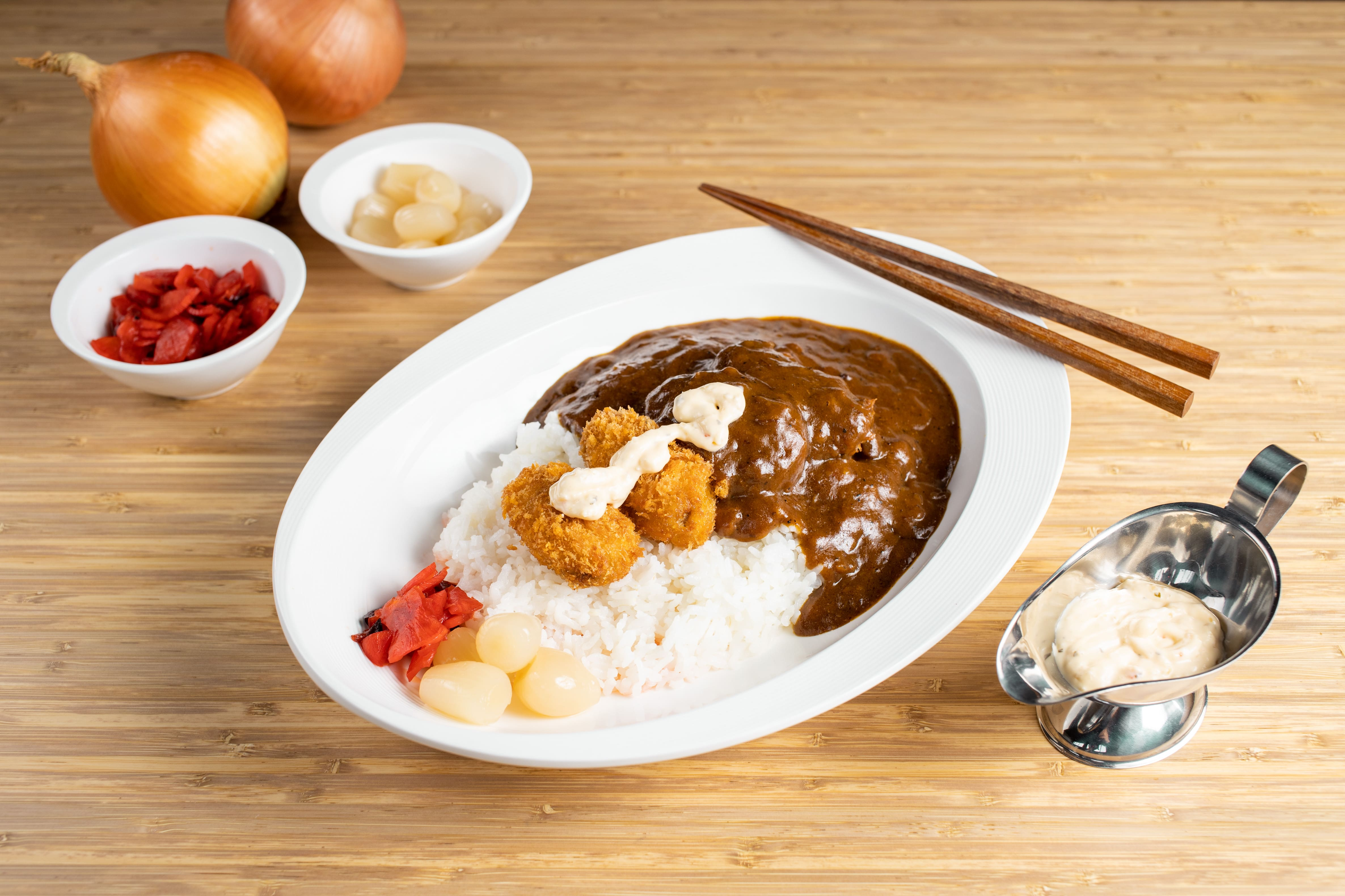Kaki Fry (Oysters)  Curry