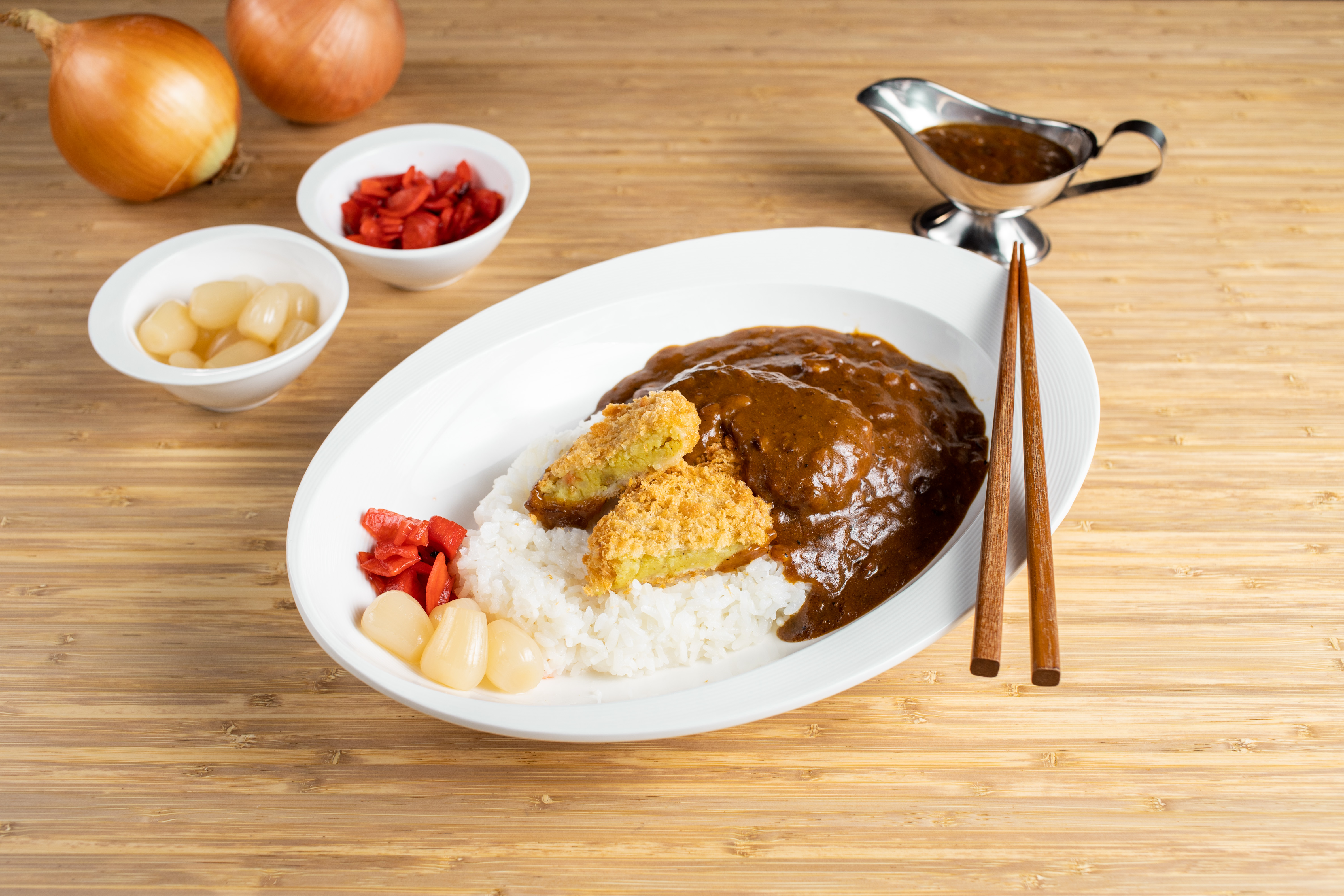 Vegetable Croquette Curry