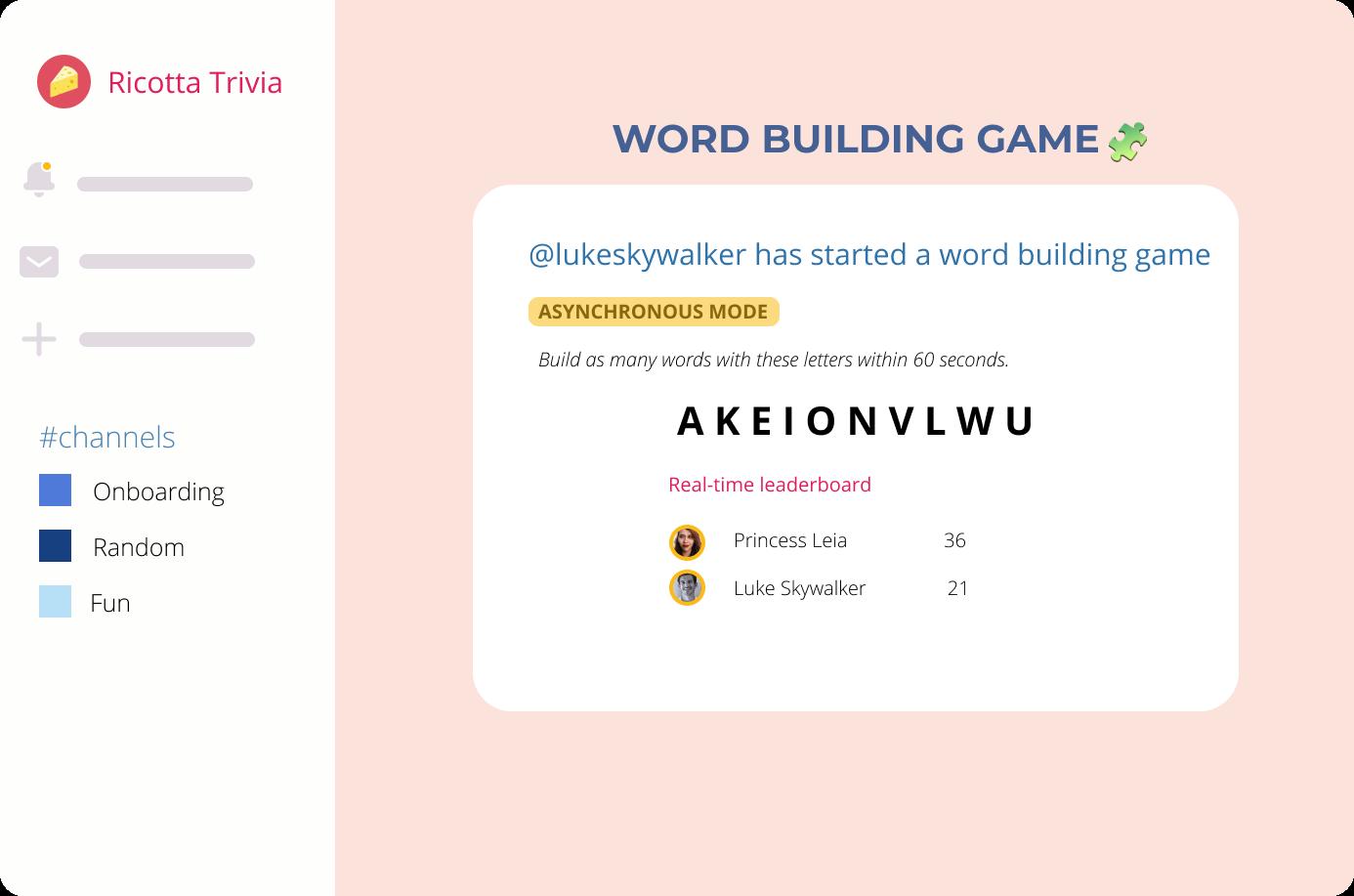 Slack Social Word Games