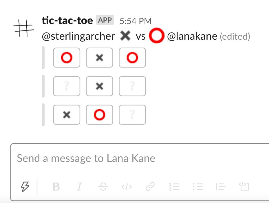Tic-Tac-Toe for Slack