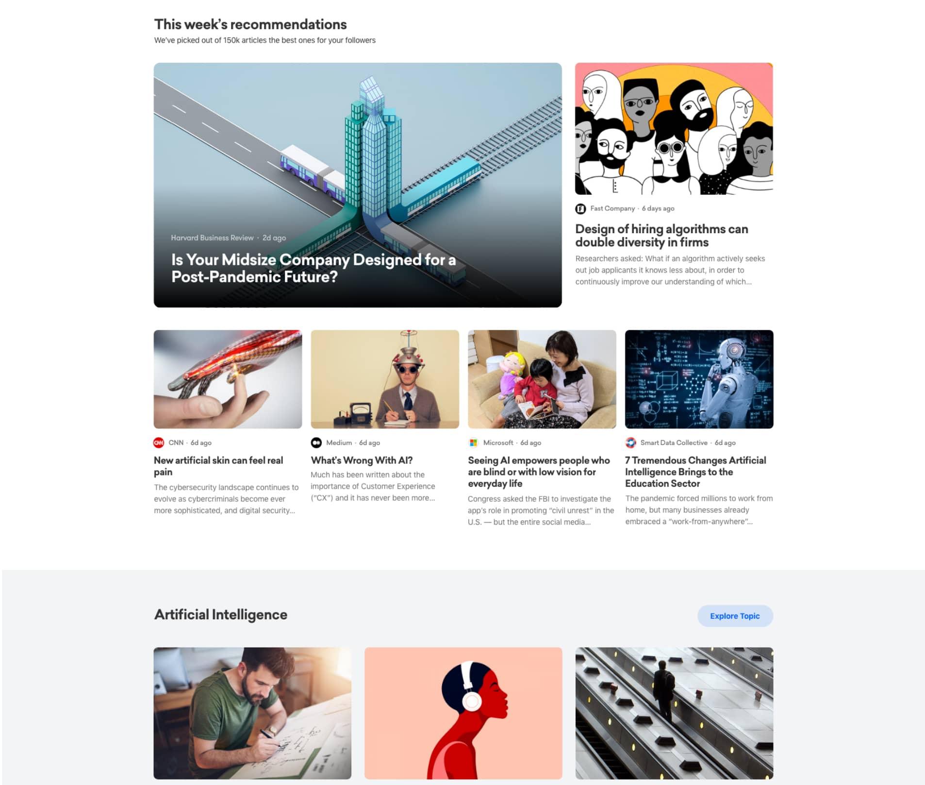 News curation, aggregation tool