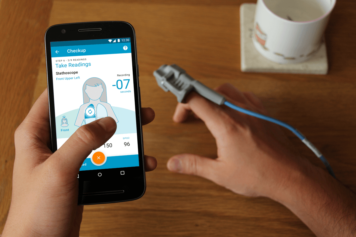Feebris Pulse-Oximeter and Stethoscope Test