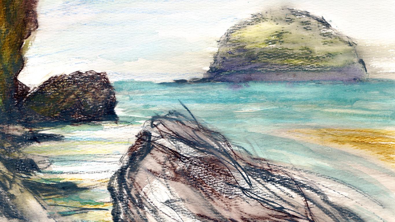 Trebarwith Strand rocks