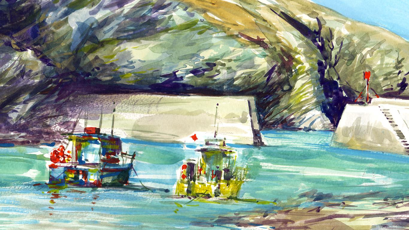 Port Isaac fishing boats