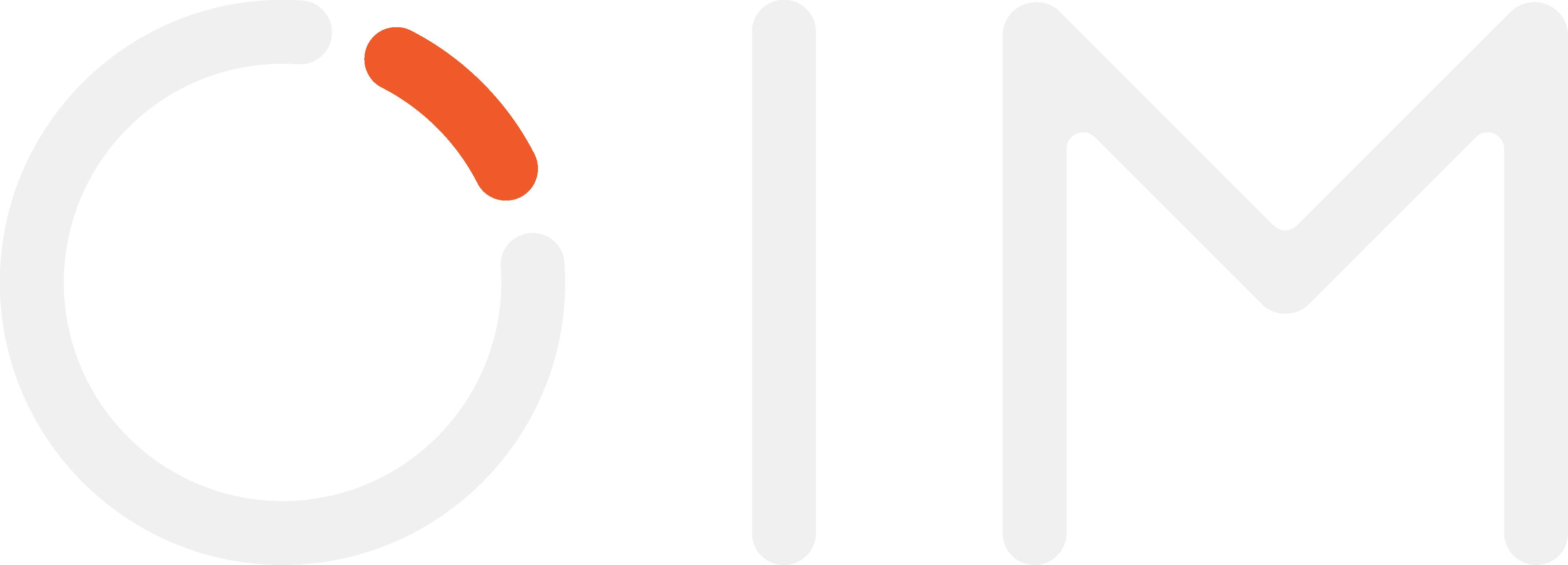 White OIM logo