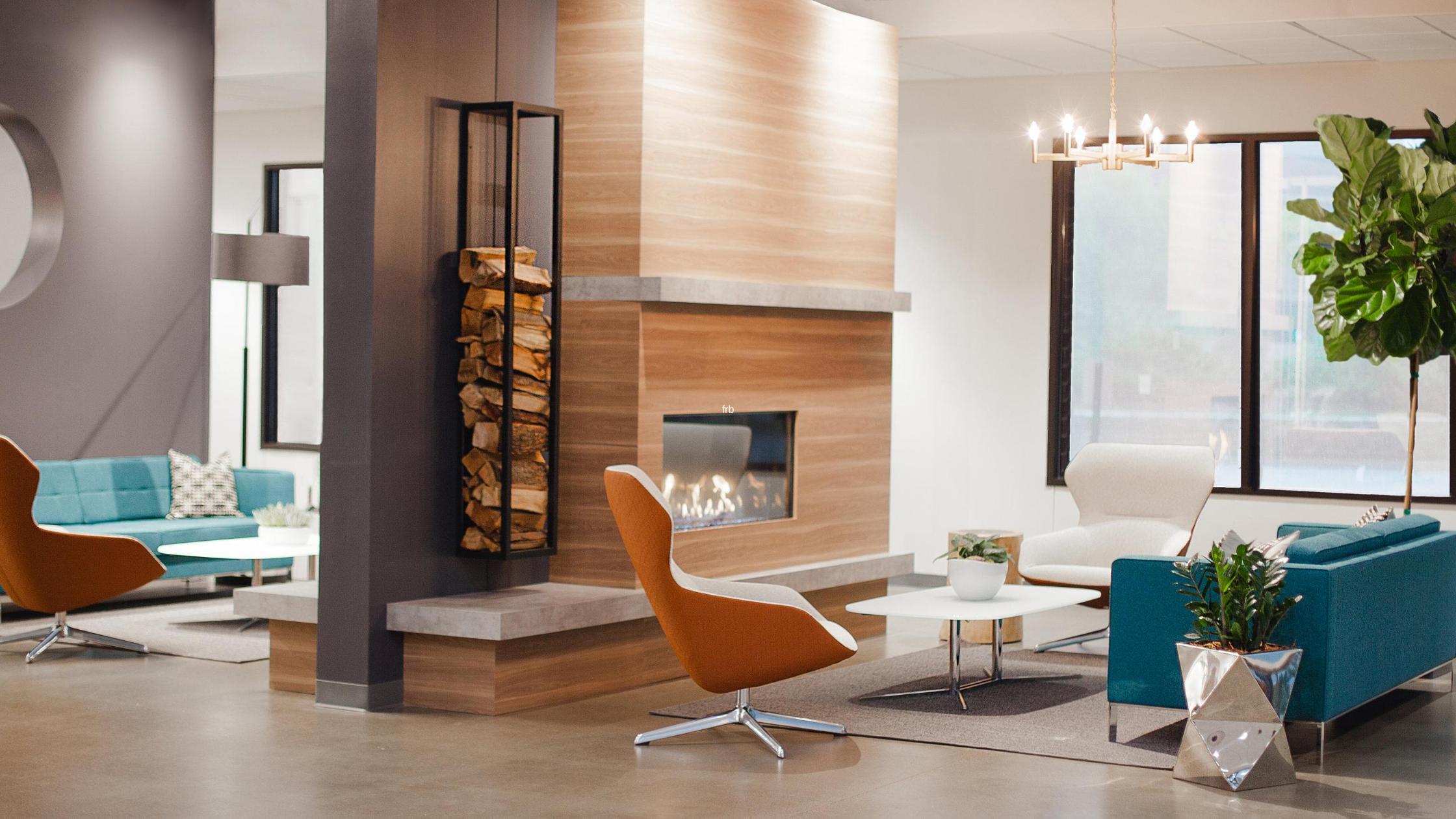 contemporary fireplace