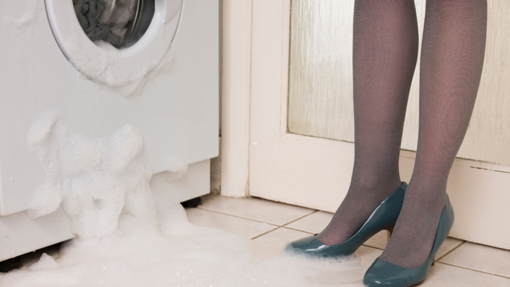 washing machine leaking water on floor