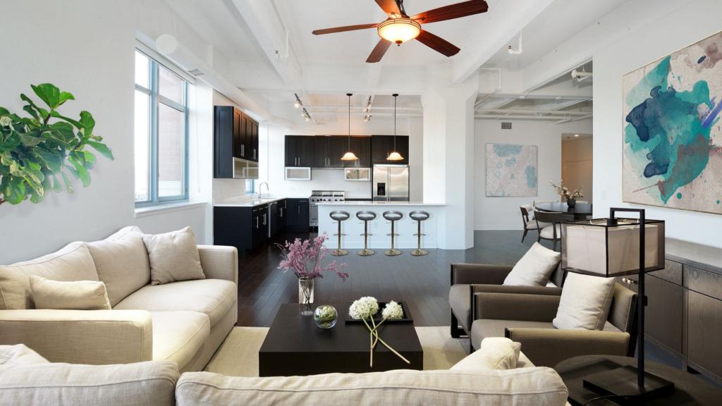 open floor plan in Tampa home