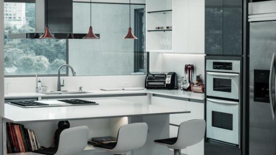 White custom Kitchen remodel