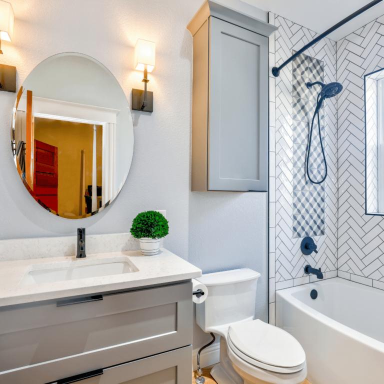 water efficient fixtures in bathroom