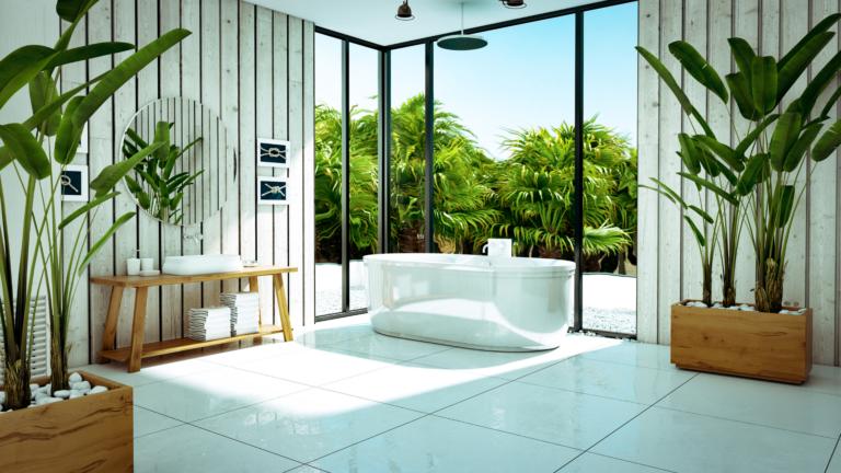 Biophilic Design bathroom