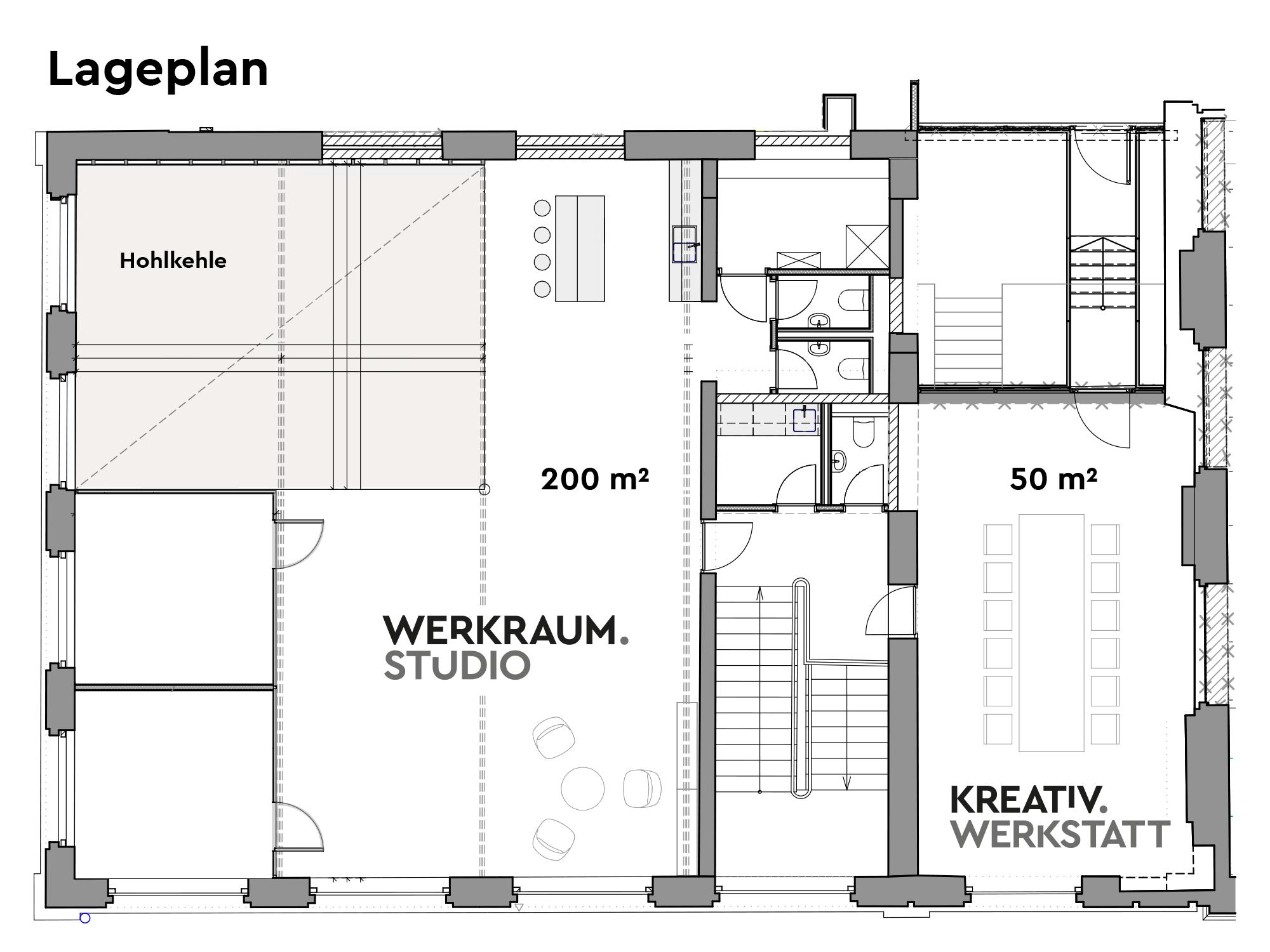Lageplan Werkraum.Studio