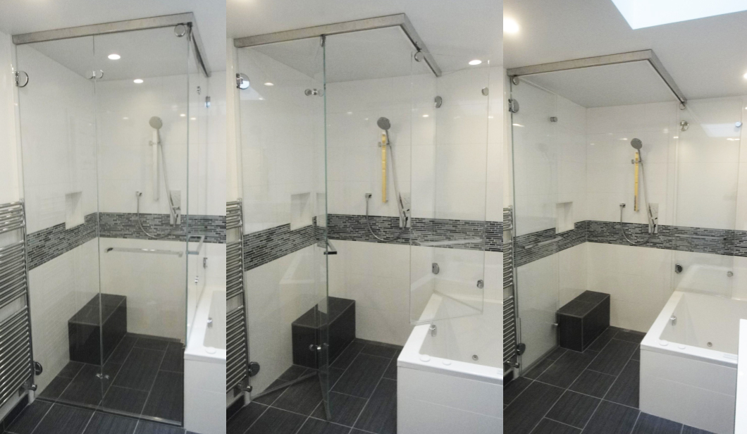 Ceiling mounted steam shower