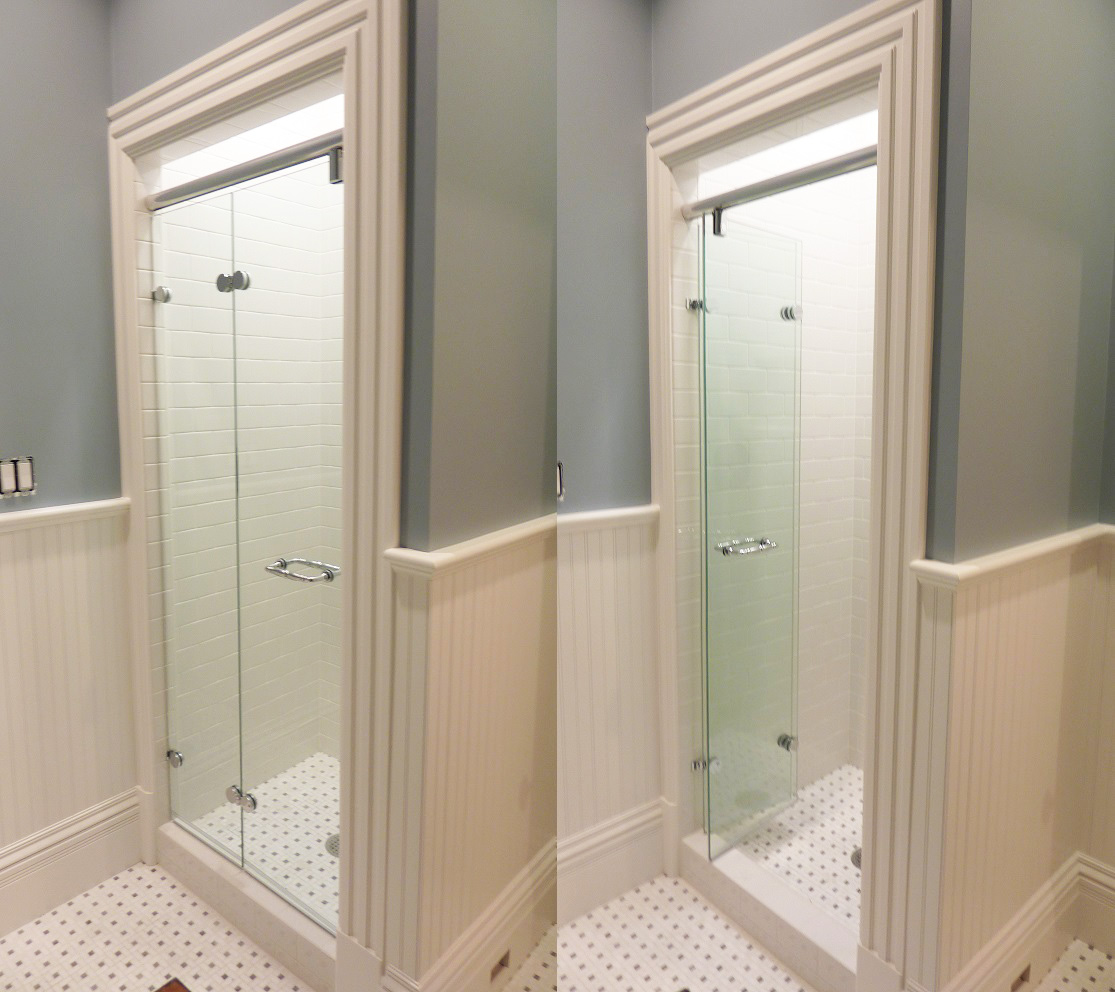 Inward Folding Bi-Fold Shower Door