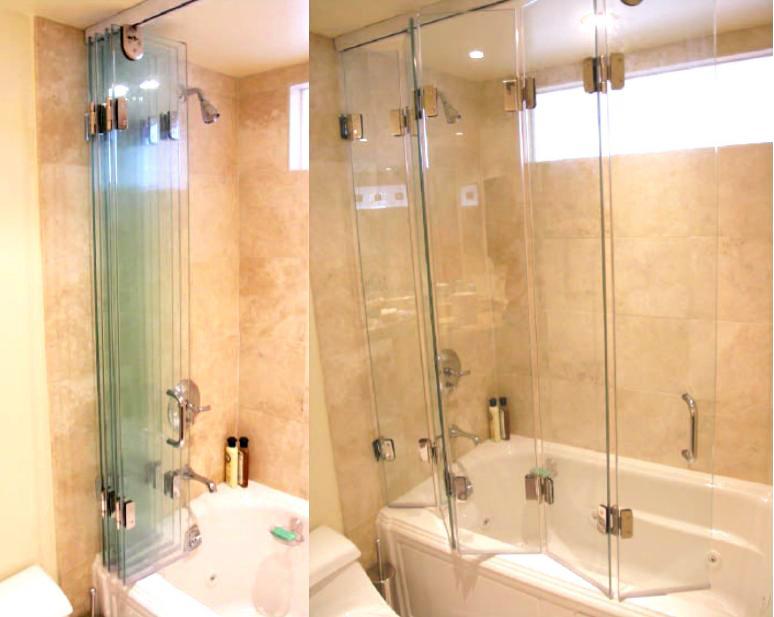 Five Panel Accordian Shower Door