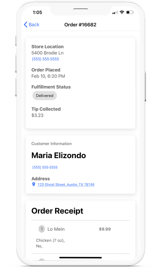 OrderB4 Mockup Iphone Delivery