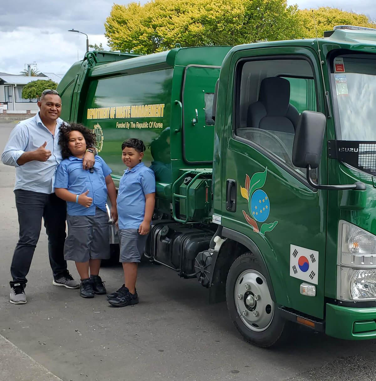 Dump truck Procured for Tuvalu of Waste management