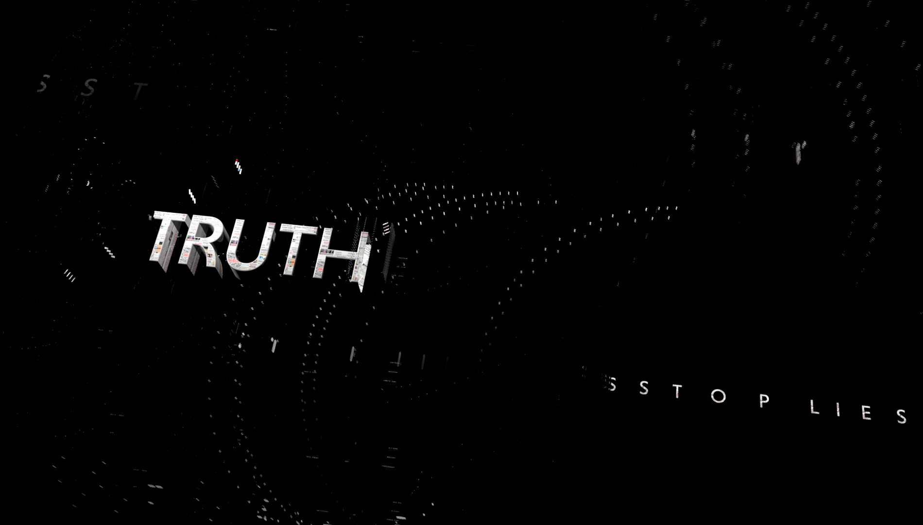 Screenshot of the TRUTH campaign animation