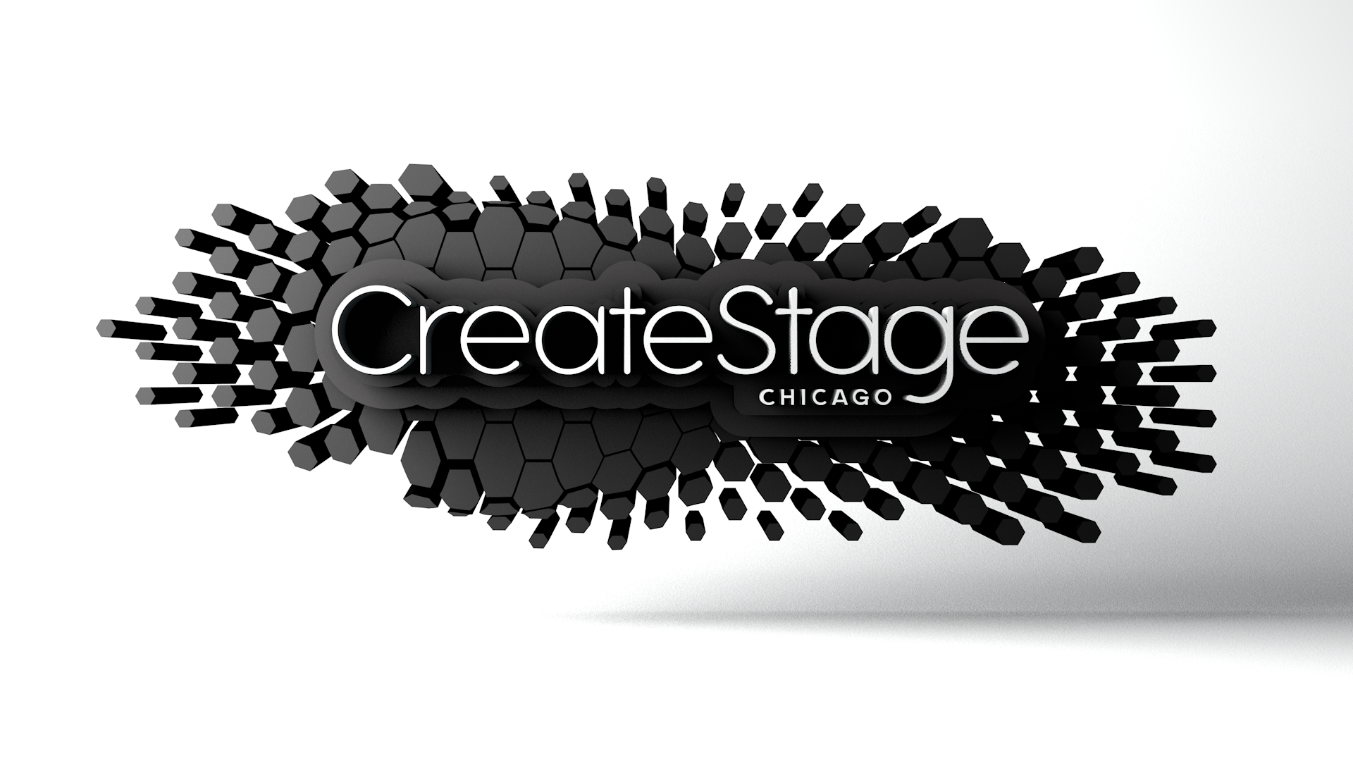3D Create Stage Logo with background.