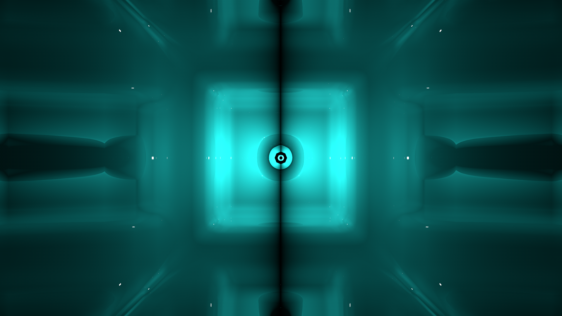 Screen shot of a tunnel animation used for production during events.