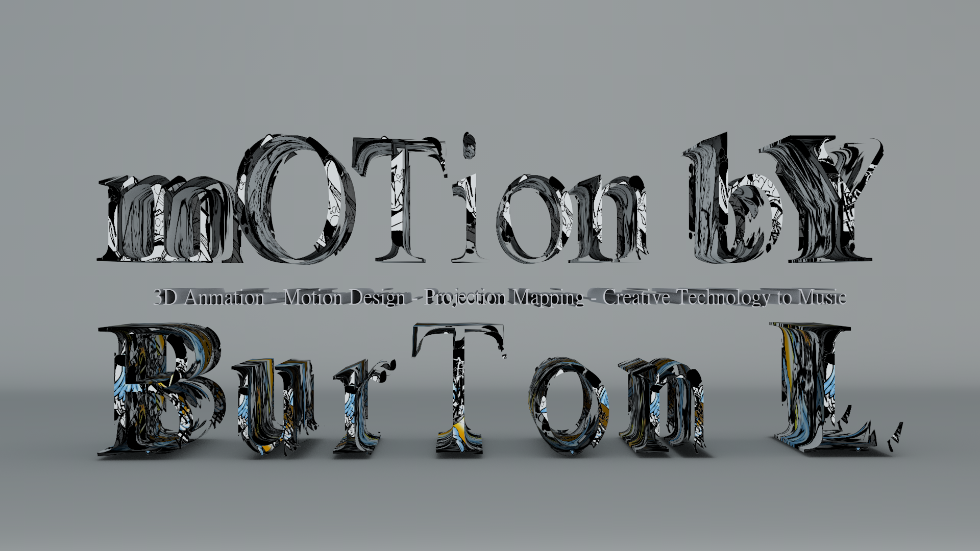 The static 3D logo for Motion by Burton L