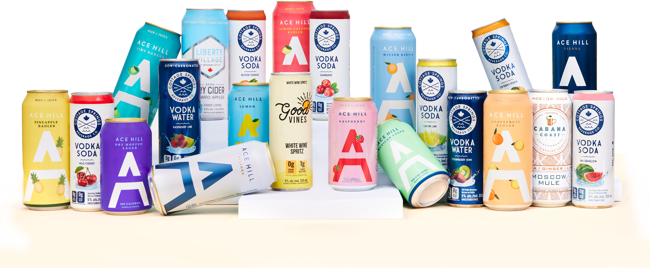 Collection of Ace Beverage Group Products