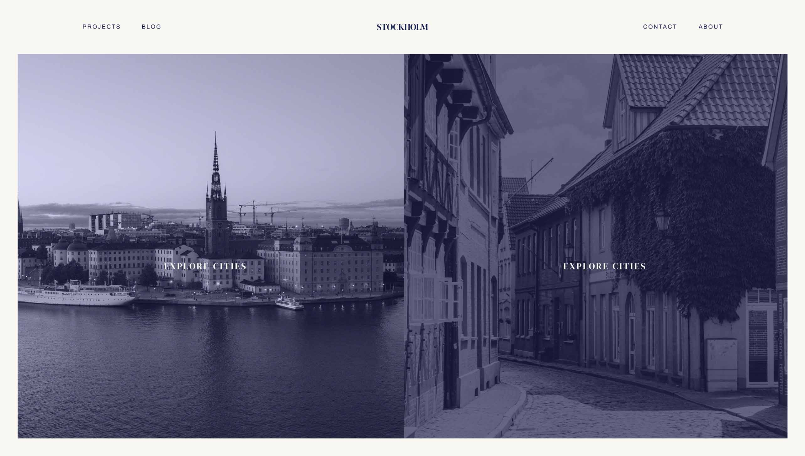 Screenshot of Stockholm website