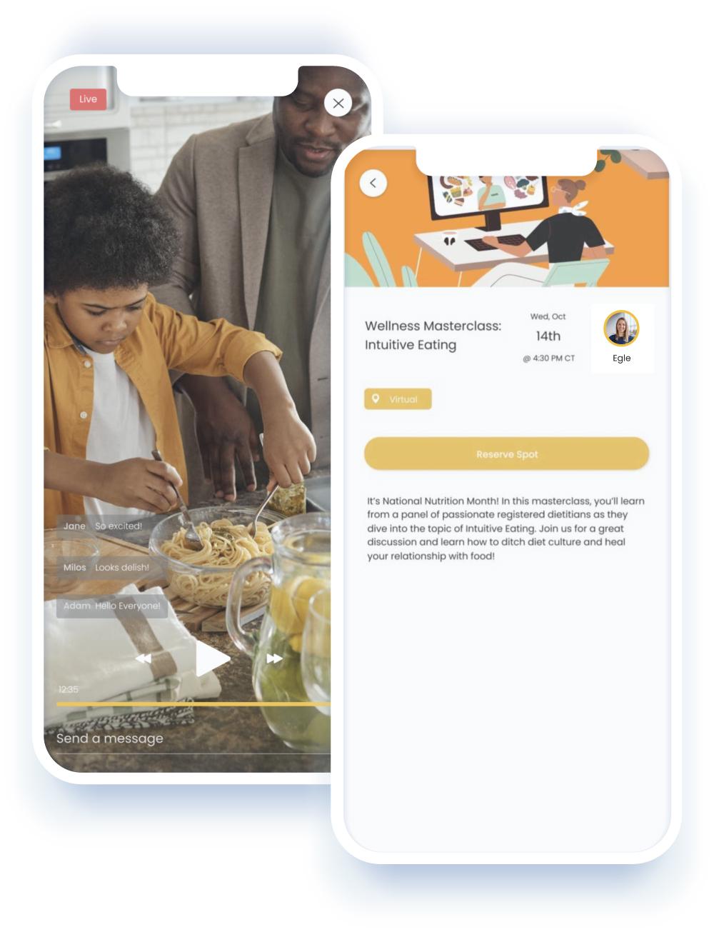 lulafit mobile app mockup