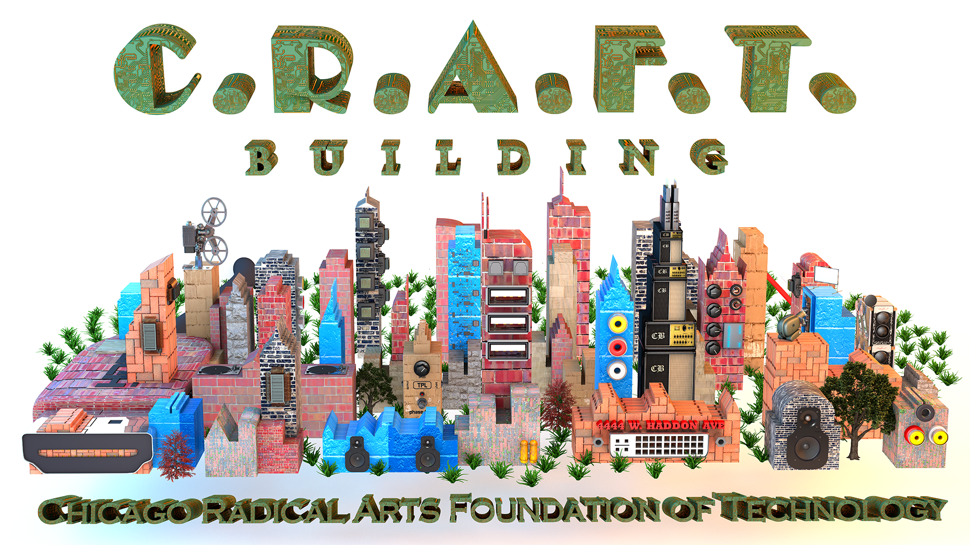 This image is the 3D Banner created for the CRAFT building.